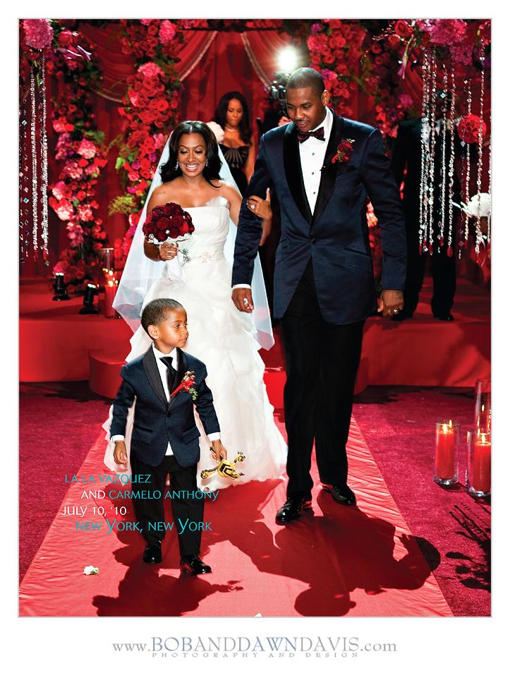 Carmelo anthony wedding reception